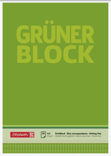 Briefblock A4 60g Grün rautiert