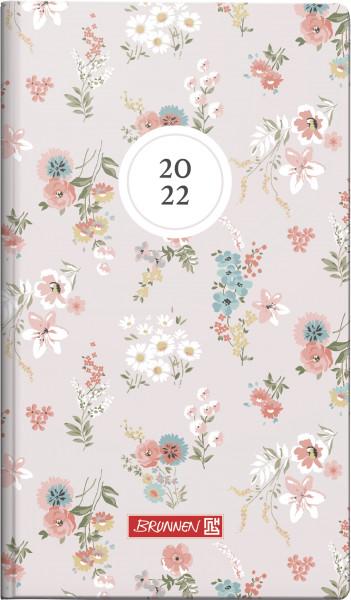 Taschenkalender 9x15cm 2S/1W Blossom