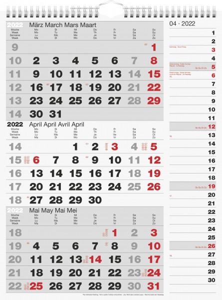 Drei-Monatskalender Kombi 30x39cm