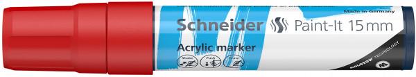 Acrylmarker Paint-It 330 15mm rot