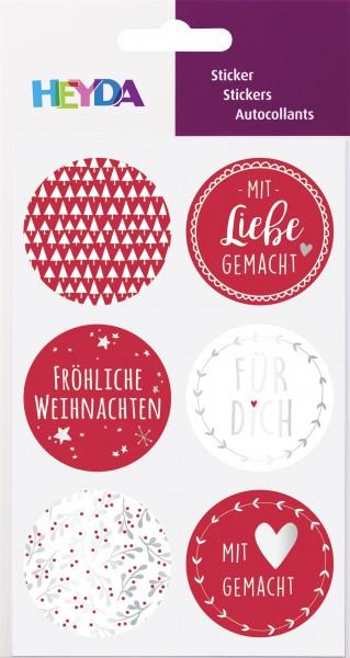 Sticker -Weihnachten- 10 x 19 cm Sticker Ø 4 cm