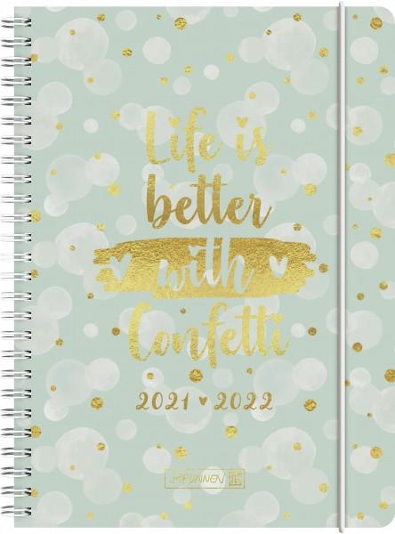 Wochenkalender, Schülerkalender, A5 PP 2S/1W Confetti