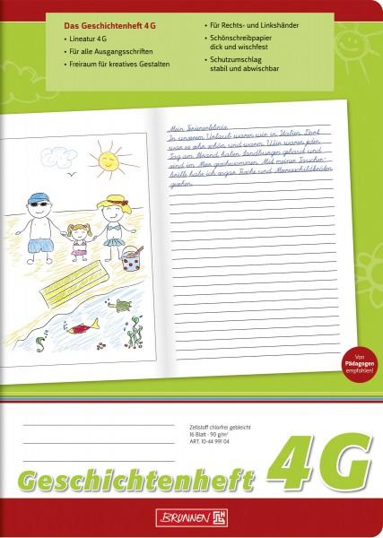 Geschichtenheft A4, Liniatur 4G, 16 Blatt