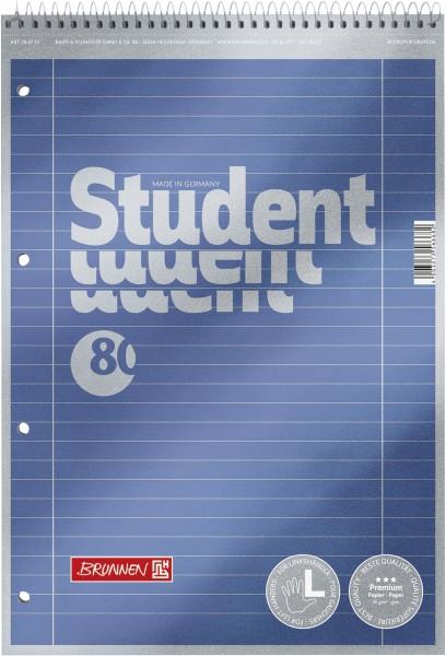 Collegeblock A4 Spirale oben Liniatur 27, liniert, Premium