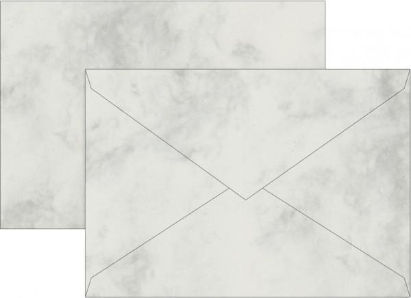 Briefumschlag Briefhülle, C6, 162 x 113mm, grau, gummiert, Universalpapier, 80g/qm