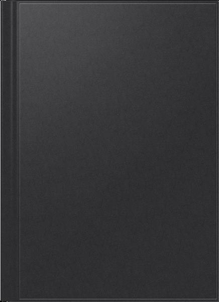 Buchkalender A4 2S/1W schwarz