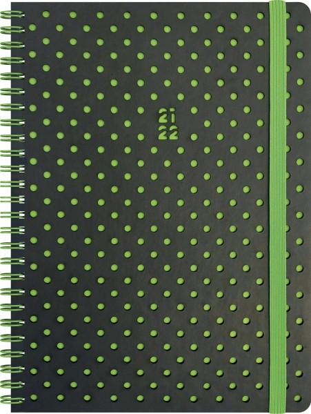 Wochenkalender, Schülerkalender, A5 PU 2S/1W Grey&Green