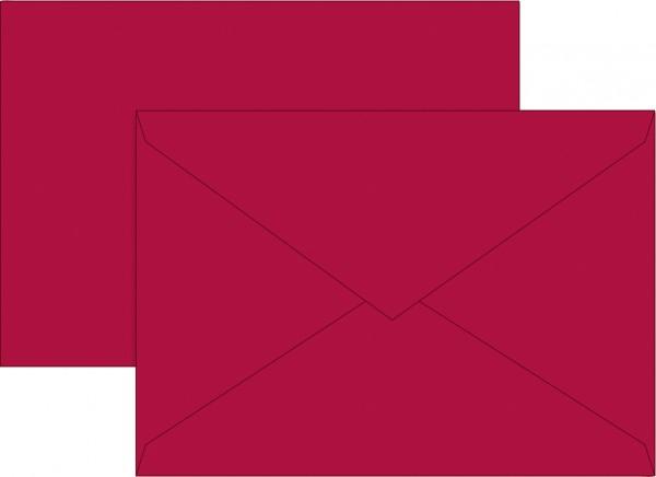 Briefumschlag, C6, 160 x 113mm, mittelrot, gummiert, Papier, 80 g/qm
