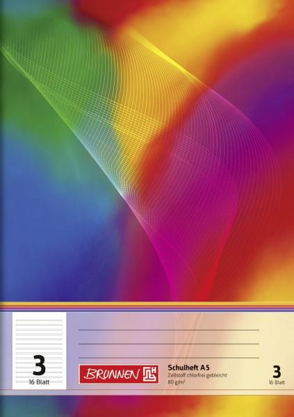 Schulheft A5, Liniatur 3, 16 Blatt