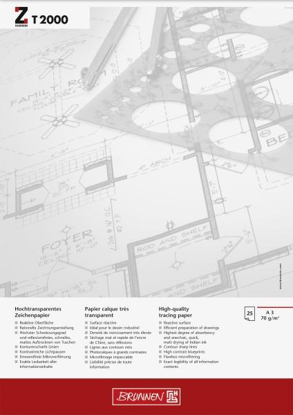 Entwurfblock A3 70g T2000 25 Blatt