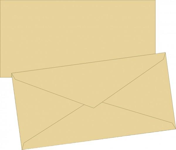Briefumschlag, DIN lang, 110 x 220mm, honig, gummiert, Papier, 80 g/qm