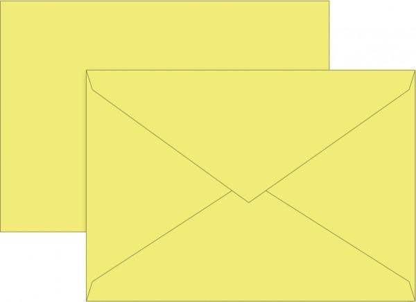 Briefumschlag, C6, 160 x 113mm, gelb, gummiert, Papier, 80 g/qm