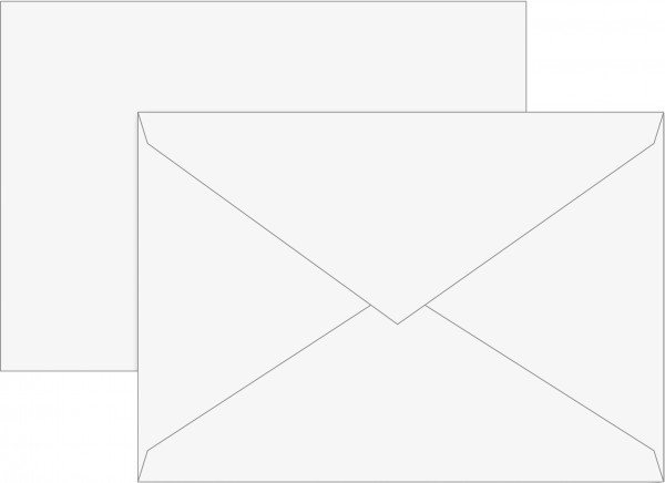 Briefumschlag, C5, weiß, gummiert, Papier, 80 g/qm