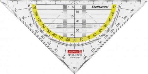 Geometrie-Dreieck 16cm bruchsicher mit Griff