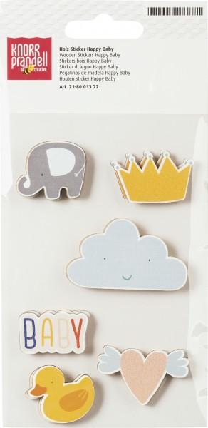 Holz-Sticker Happy Baby
