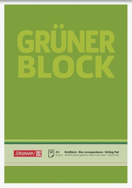 Briefpapierblock Briefblock, A5, weiß, 50 Blatt