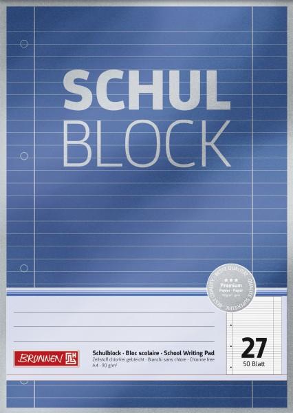 Schulblock A4 Liniatur 27, 50 Blatt, Premium
