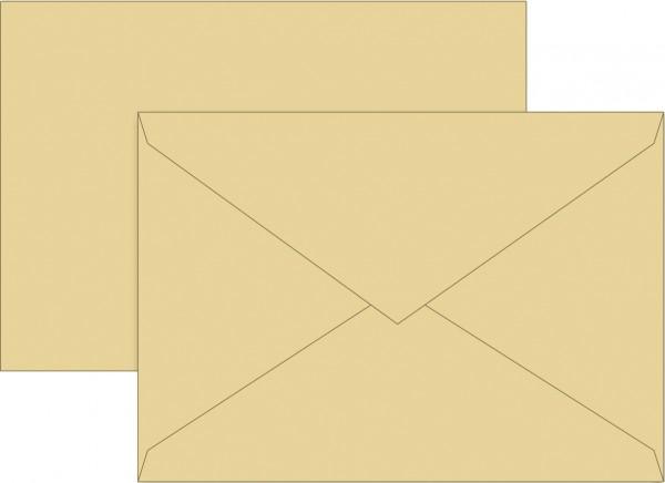 Briefumschlag, C6, 160 x 113mm, honig, gummiert, Papier, 80 g/qm