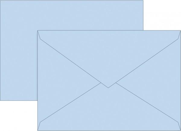 Briefumschlag, C6, 160 x 113mm, hellblau, gummiert, Papier, 80 g/qm