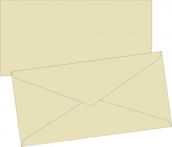 Briefumschlag, DIN lang, 110 x 220mm, chamois, gummiert, Papier, 80 g/qm