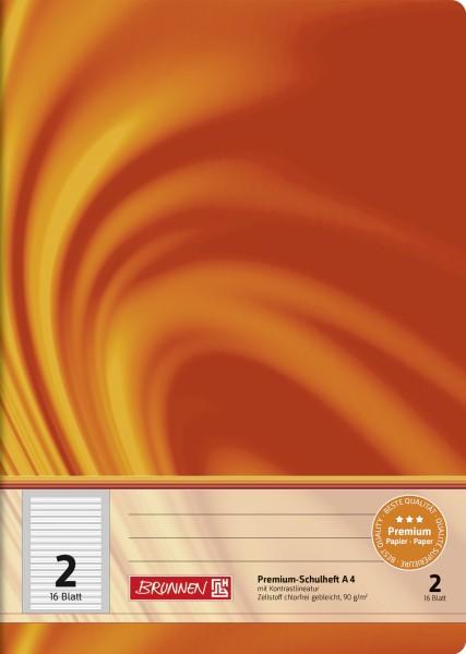 Schulheft Vivendi A4, Liniatur 2, 16 Blatt