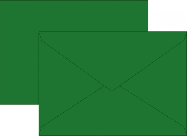 Briefumschlag, B6, 125 x 176mm, dunkelgrün, gummiert, Papier, 80 g/qm
