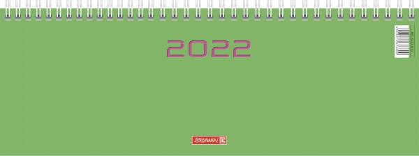 Querterminbuch 30x11cm 2S/1W grün