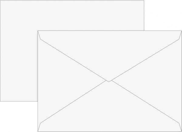 Briefumschlag C6 gummiert, weiß