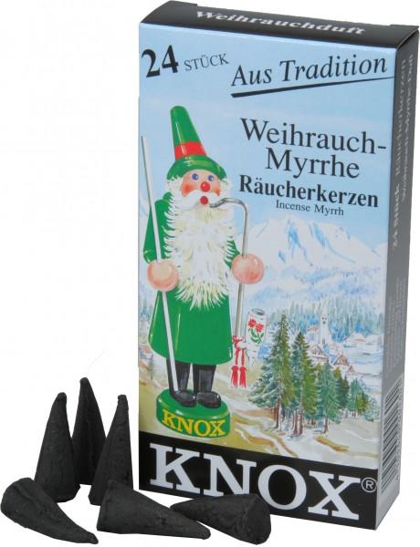 KNOX Räucherkerzen Weihrauch-Myrrhe