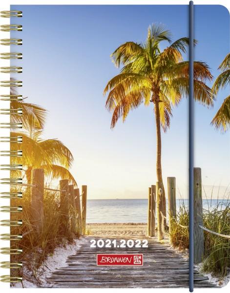 Wochenkalender, Schülerkalender, A6 PP 2S/1W Palm Beach