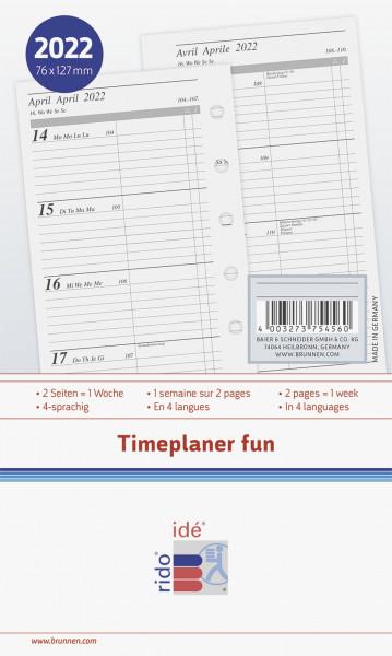 Timeplaner A7 Einlage 2 Seiten/1Woche