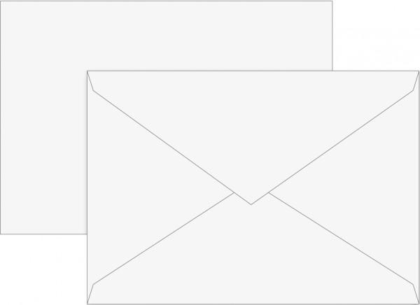 Briefumschlag, C 6, 160 x 113 mm, weiß, gummiert, Papier, 80 g/qm