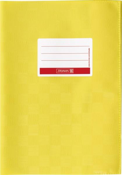 Hefthülle A5 gelb Folie mit Schild